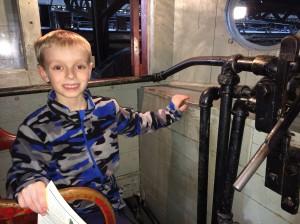 Ben in the train engine