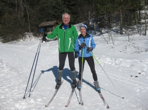 Rich and Molly XC ski