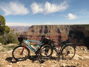 Our bikes and Grand Canyon