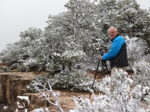 Rich photographing in snow