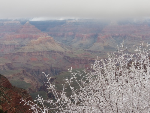 Grand Canyon with snow 1