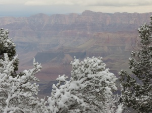 Grand Canyon with snow 2