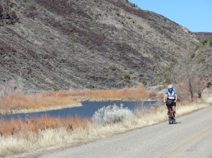 Rich cycling the Rio Grande