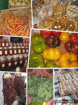 Santa Fe farmers market produce