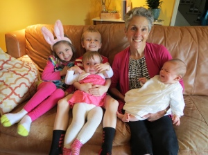 Grammy with 4 grandkids