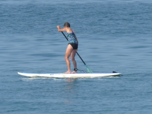 Molly on SUP