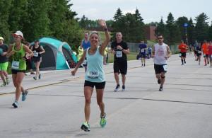 Molly running Grandma's Marathon