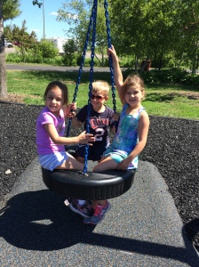 Mya and friends at the park