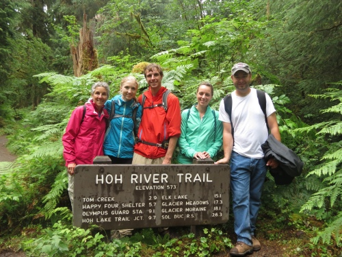 Rain forest hikers