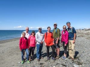 Family on Dungeness Spit