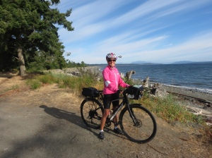 Molly cycling at Campbell River