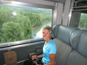 Molly on train