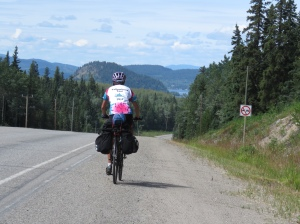 Molly approaching Fraser Lake