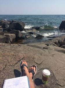 Writing at Bright Beach
