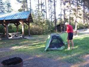 Rich at Campground