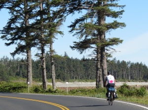 Rich cycling Haida Gwaii