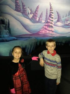 Ben and Mya at the Grinch