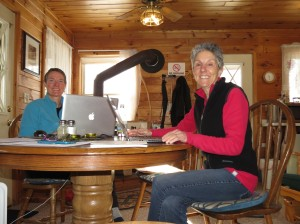 Molly and Kristina on writing retreat