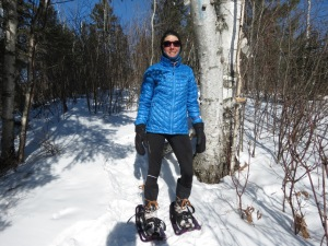 Molly snowshoeing SHT