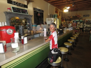 Molly at the Soda Fountain