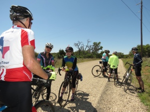 Cyclists on Willow City Loop