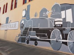 Smithville train mural