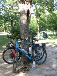 Lake Somerville campsite