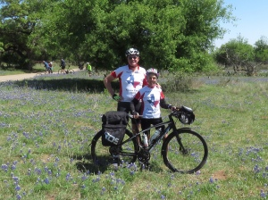 Molly and Rich in bluebonnets