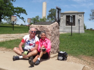 Molly and Rich at historic monument