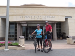 Molly and Rich at Bush's presidential library