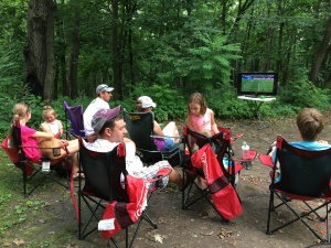 Family camping World Cup game