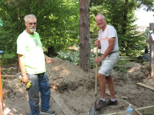 Rick and Rich building boardwalk