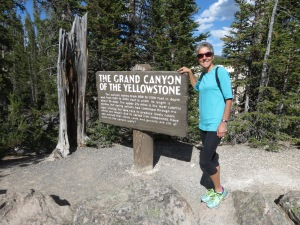Molly at Yellowstone Canyon