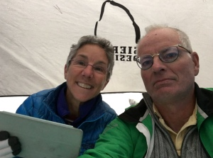 Yellowstone reading in tent