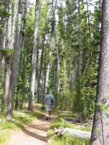 Rich hiking to Shoshone Lake