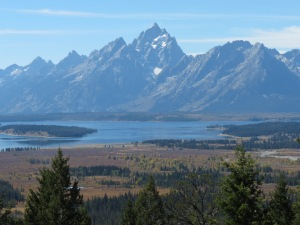 Tetons from Grand View Point