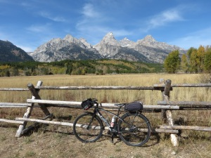 Bicycle trail in Tetons