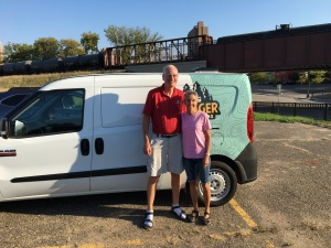 Rich and Molly w Campervan