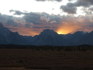 Tetons sunset 1