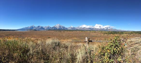 Tetons panoramic view