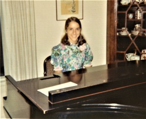Molly at the piano