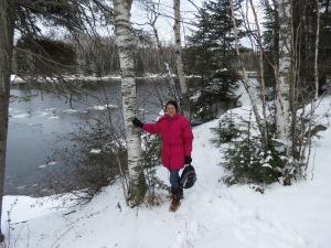 Molly hiking at Dog Lake