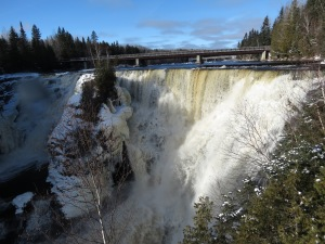 Kakabeca Falls in winter