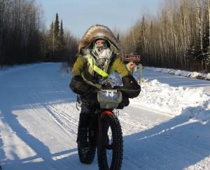Biker in Arrowhead 135