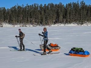 Carl and Erik begin trek