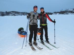 Carl and Erik finish their trek