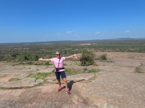 Molly atop Enchanted Rock