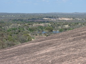 View of Moss Lake from Enchanted Rock