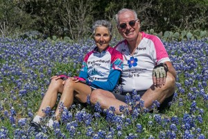 Molly and Rich w Texas bluebonnets Willow City Loop