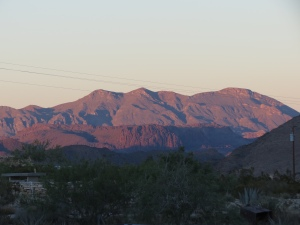 Sunset from the Trading Company porch